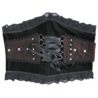 Studded Gothic Waspie Waist Cincher - FX1009 by Medieval Collectibles