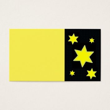 Yellow Stars Business Card