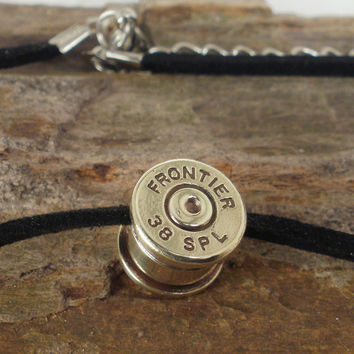 Bullet Casing Necklace Frontier 38 SPL Casing by ShellsNStuff