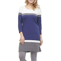 Navy Turkish Sweater Knit Dress by Hatley