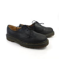 Doc Martens Oxfords Vintage 1990s Black Leather Oxfords Shoes UK size 4 Women's size US 6