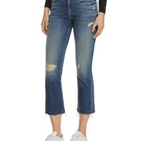 MOTHERInsider Crop Fray Jeans in Gypsy