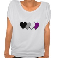 Asexuality pride hearts Top