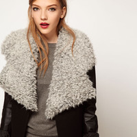 ASOS Faux Shearling Lapel Collar at asos.com