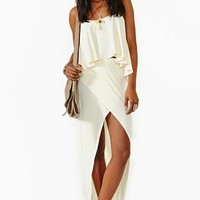 Undercover Maxi Skirt - Ivory