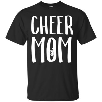 Cheer Mom T Shirt for Proud Cool Moms of Cheerleaders Sports_Black