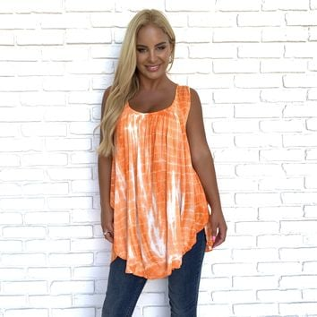 Creamsicle Tie Dye Tank Top