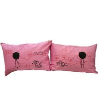 """Couple Gifts Land: : """"First Impression"""" Couple Pillowcases-romantic Valentines Gifts for Couples, Cute Valentines Day Gift Ideas, Good Couple Gifts for Valentines, Romantic Anniversary Gifts (Wedding Gift for the Couple)"""