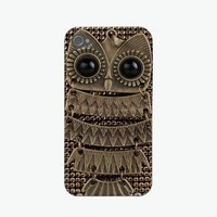 Cute Owl Bling Metal Iphone 4 Covers from Zazzle.com