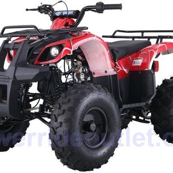 "PRO TT Type-D Yamaha Grizzly Clone 110cc ATV ( Big 19/18"" Tires with 8"" Wheels, Safety Remote Engine Shut Off Switch, Speed Limiter, Fully Automatic w/ Reverse, Big Size Body Frame, Fully Assembled Available)"