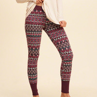 Intarsia Sleep Leggings