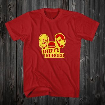 Dirty Burger Red T-Shirt Size S M L XL 2XL Code 1