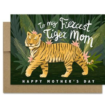 Tiger Mom - Greeting Card