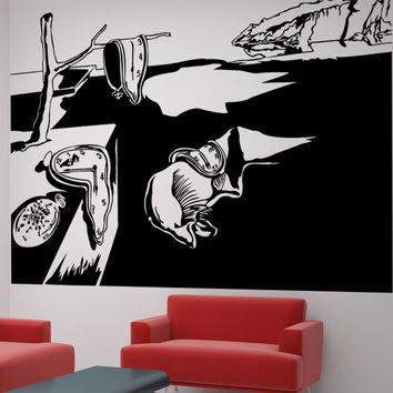 Vinyl Wall Decal Sticker Persistence Of Memory #5405