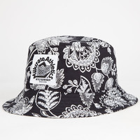 Milkcrate Athletics Art Mens Bucket Hat Black/White One Size For Men 26054812501