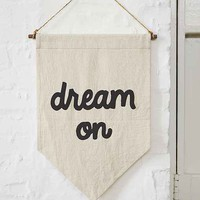 Secret Holiday & Co. X UO Dream On Banner- Black & White One