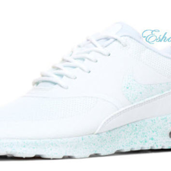 SALE Light Blue Speckle White Nike Air Max Thea Sneakers 7c7b6064941e