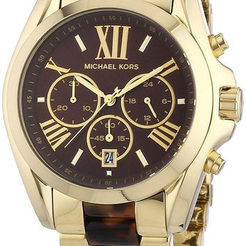 DCCKWA2 Michael Kors Women's Bradshaw Gold Bracelet Brown Dial Watch MK5696