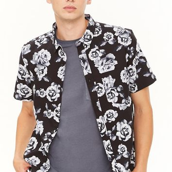 Photorealistic Rose Print Shirt