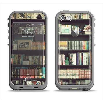 The Vintage Bookcase V2 Apple iPhone 5c LifeProof Fre Case Skin Set