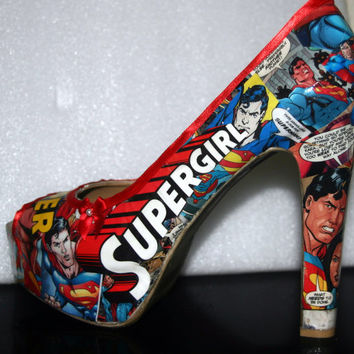 Superman & SuperGirl High Heels