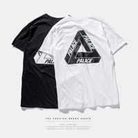 Black and White PALACE Letter Print T-Shirt