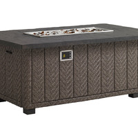 Olive Fire Pit, Walnut, Outdoor Fire Tables