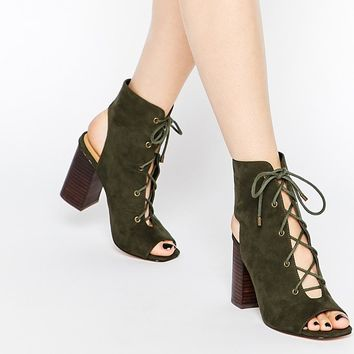 ASOS | ASOS EDGECOMBE Lace Up Heel Boots at ASOS