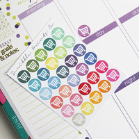 30 Grocery Cart Die-Cut Stickers // (Perfect for Erin Condren Life Planners)