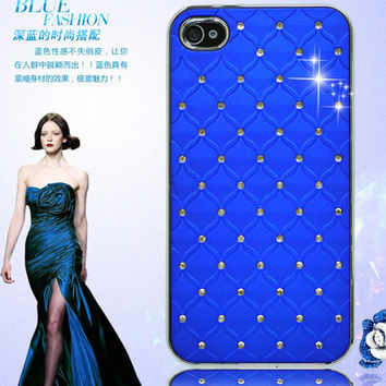 Hottest Diamond Rhinestone Back Case For iPhone 4 4S  Lovely Ultra-slim Durable Protection Back Cover  For iPhone 4 4S