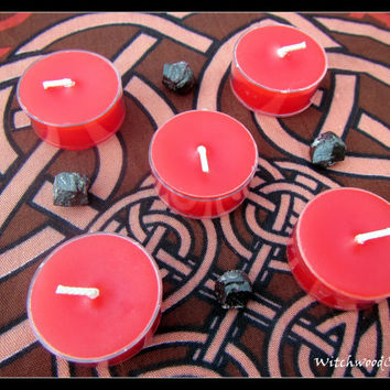 POMEGRANATE - Scented Tealight Candles - Greek Goddess Persephone - Hades - Pagan Wicca - Wiccan Witch - Shrine Altar - Witchcraft