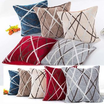 45X45cm Plush Pillow Sofa Waist Throw Cushion Cover Home Decor Cushion Cover Case