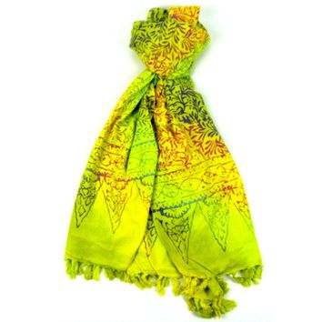 Handmade Sarong Yellow - Designs will Vary - Global Groove (W)