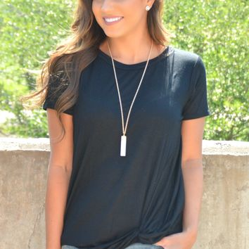 Make My Way Knot Top - Black