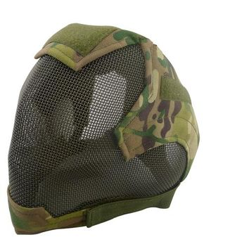 Airsoft Military Cosplay Mask V6 Steel Net Mesh Fencing Full Face Protective Tactical Mask