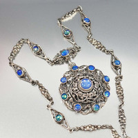 Antique Austro Hungarian Victorian Moonstone Necklace