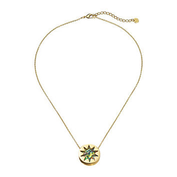 House of Harlow 1960 Abalone Mini Sunburst Pendant Necklace