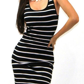 Striped Mini Beach Dress