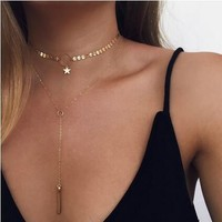 Shiny New Arrival Jewelry Gift Stylish Accessory Sexy Simple Design Handcrafts Tassels Lock Necklace [11538582932]