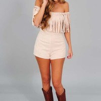Native Touch Romper: Cream
