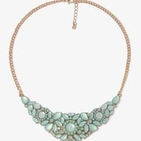 Rhinestone Floral Bib Necklace | FOREVER21 - 1031602548