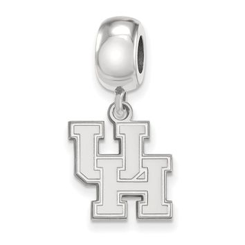 NCAA Sterling Silver University of Houston Small Dangle Bead Charm