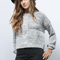 LA Hearts Patched Pullover Sweater - Womens Sweater