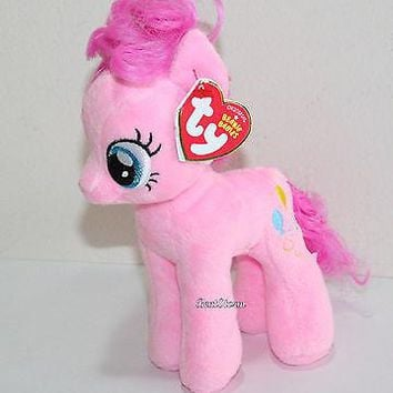 "Licensed cool My little Pony Pinkie Pie TY Beanie Babies Bean Bag  7"" Stuffed Animal Toy NWT"