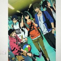 Home Decor Anime Free! - Iwatobi Swim Club Wall Scroll Poster Fabric Painting Key Roles 23.6 x 35.4 Inches -063