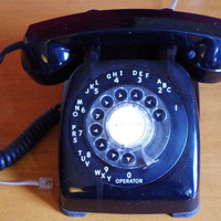 Vintage 1960s Automatic Electric Rotary Dial Desk Phone