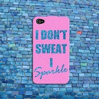 Cute Pink Sparkle Quote Funny Fitness Gym Girl Case Cover iPhone iPod Cool Girly
