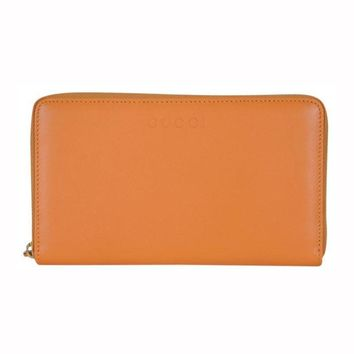 Gucci Women's Marigold Orange Full Zip Around Wallet 321117