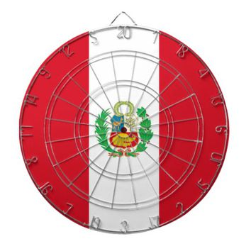 Dartboard with Flag of Peru