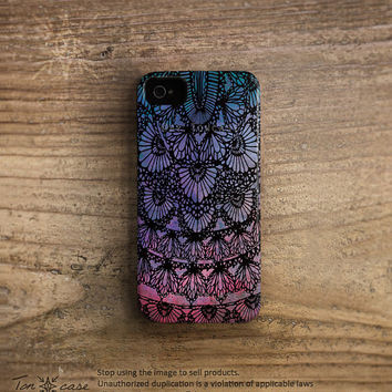 Lace iPhone 4 case - iPhone 4s case, iPhone 5 case, High quality 3D printing,drawing, lace pattern - Floral lace pattern (c84)